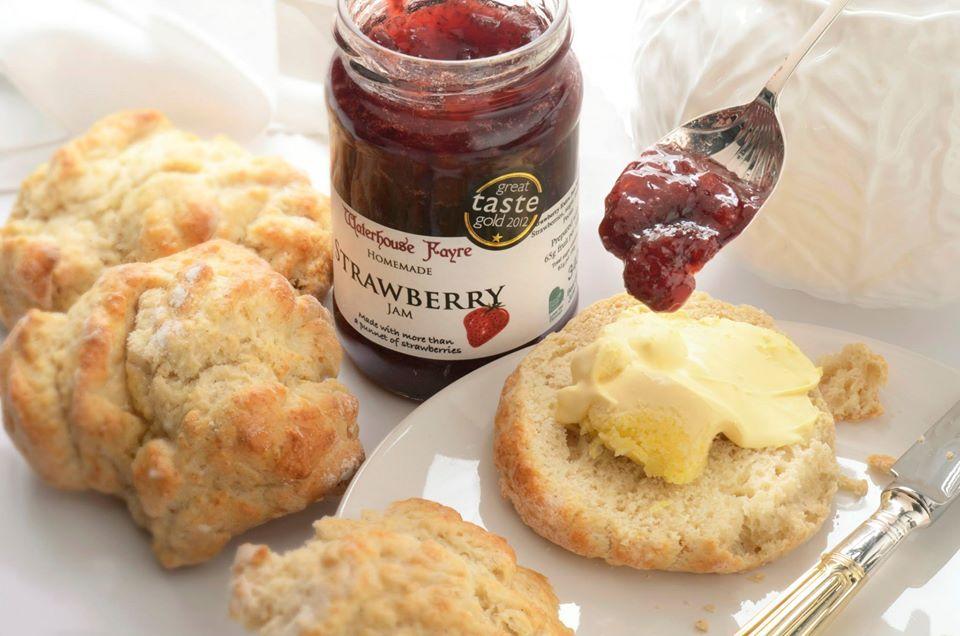 Homemade stawberry jam Devon the south of England
